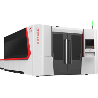 High Power CNC Fiber Laser Cutting Machine with Automatic Pallet Changer And Closed Body